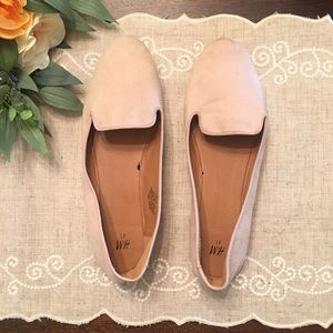 H&M brand: Blush Suede Flat size 11. (Like new)